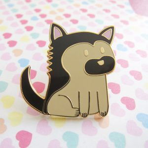 Milo, the German Shepherd Dog Pin