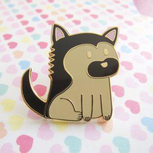 Milo, the German Shepherd Dog Pin