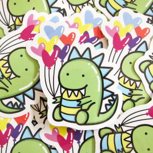 Moomii, the T-Rex dinosaur Vinyl Sticker