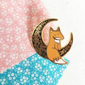 Moon Fox Pin