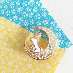 Moon Rabbit Pin