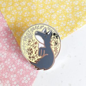 Moon Wolf Pin