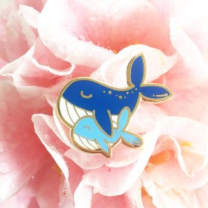 Mommy & Me Whale Pin
