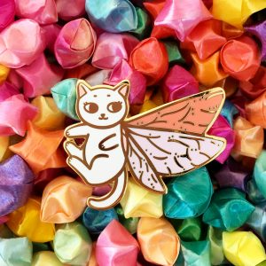 Moth Fairy Cat Pin