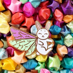 Moth Fairy Rabbit Pin