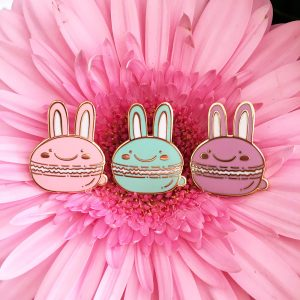 Bunny Macaron Pin
