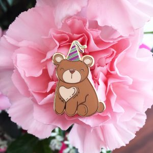 Boris, the Party Bear Pin