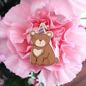 Boris, the Party Bear Pin