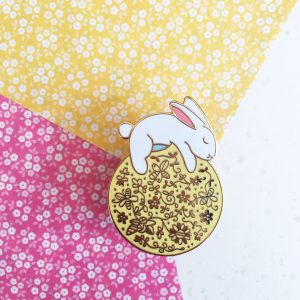 Sun Rabbit Pin
