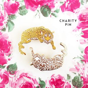 Floral Tiger Pin