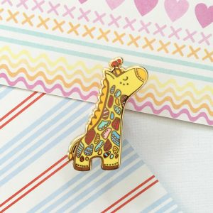 Safari Wonderland Giraffe Pin
