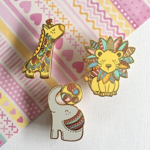Safari Wonderland Elephant Pin
