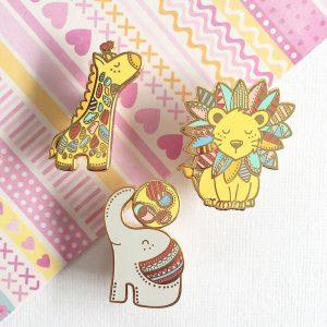Safari Wonderland Pin Set