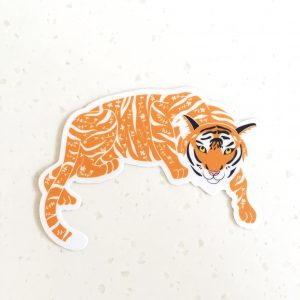Floral Tiger Vinyl Sticker