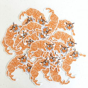 Floral Tiger Vinyl Sticker