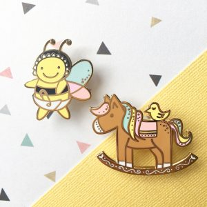 Sweet Dreams Rocking Horse Pin