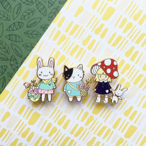 Forest Cat Pin
