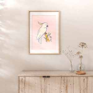Cockatoo Australian Birds Art Print