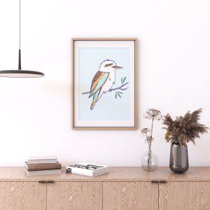 Kookaburra Australian Birds Art Print